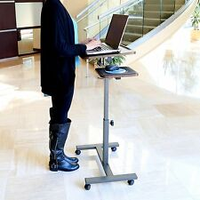 Stand Up Computer Desk Laptop Mobile Tilting Work Station Adjustable Height Cart