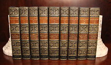 William Shakespeare 1826 Dramatic Works Leather 9 Volume Set Rare