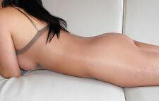 Body Bodystockings offen Pantyhose KAFFEE BRAUN transparent unisex glänzend
