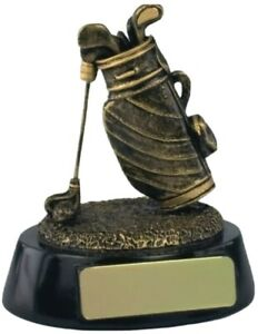"Golf Clubs Figure Winner Trophy Award Free Engraving Resin 4"""