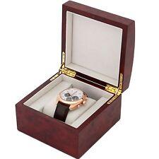 Single Watch Box 1 Extra Large Watch Burlwood Finish Removable Cushion BUR1