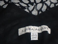 LAURA ASHLEY FloralSilkDoubleVneckSz10asNEW