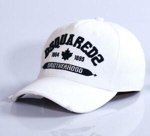 NEW DSQUARED2 ICON DSQ2 BLACK CAPS BRAND SNAPBACKS BASEBALL CAP HAT