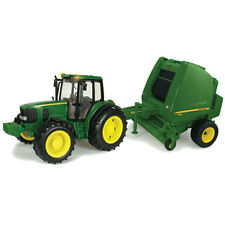 NEW Big Farm Series 7330 Tractor and 854 Round Baler Lights and Sounds 46180