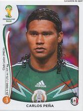 N°081 CARLOS PENA # MEXICO STICKER PANINI WORLD CUP BRAZIL 2014