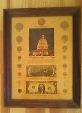 Framed Commemorative Presidential Coin & Currency collection