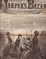 1877 Harpers Bazar January 27-Men's shooting jacket,cap