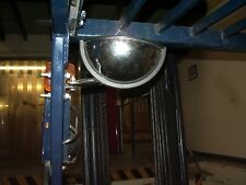 "Unbreakable Fork Lift mirror 8"" x 4"" Wide angle Interior Blind spot Half moon"