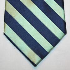 NEW Merona Silk Neck Tie Dark Blue with Lime Green Stripes 1189
