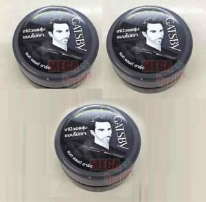 3 x GATSBY Hair Styling Wax Mat and Hard From JAPAN 25 g.