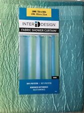"10! InterDesign Mildew-Free Water-Repellent Fabric Shower Curtain, Long 72"" x 84"