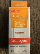 Neutrogena Rapid Clear Acne Eliminating Spot Gel 0.5 oz Exp 9/20 Microclear