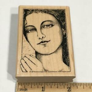 Woman in Waiting  Rubber Stamp Lady Face GR1062 Stampabilities