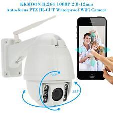 Wireless WiFi HD 1080P CCTV Security IP Camera Auto-focus PTZ Waterproof US