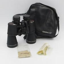 """TASCO 2023 Binoculars 10x50 Zip Focus Wide Angle Lens Caps & Case 7x8x2.5"""""""