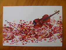 POSTCARD...ANDRE RIEU...VIOLIN...ROSE PETALS...ON TOUR WITH THE SEEKERS MAY 2011