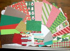 "Fa La La CHRISTMAS Mix PaperPk -10D/S, 3PC/S 6x6, 2 6x3, 6Glitter3x4"", 11Strips"