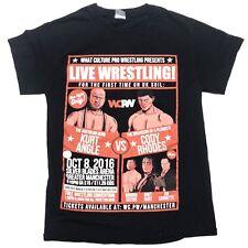 Cody Rhodes VS Kurt Angle  2016 WCPW UK Pro Wrestling T Shirt Bret Hart Sz Small