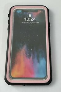 PunkCase For iPhone XS Max Waterproof Case, w/ Build In Screen Protector - PINK