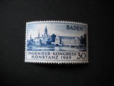 Französische Zone, Baden, Michel 46 II, **,  mit neuestem Befund H.D. Schlegel