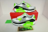 Nike Air Max 90 Black Lime Grey Men's 7.5US Running Sneakers (CW5458-100) New