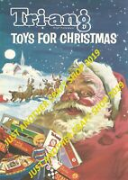 Triang Toys 1964 Christmas Poster A3 Size Catalogue Advert Sign - high quality