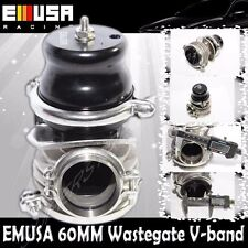 Emusa 60MM Vband Wastegate BLACK for Acura Integra BMW Audi Honda Accord Civic