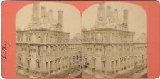 Tuileries Paris France Photo Stereo Vintage albumine ca 1871