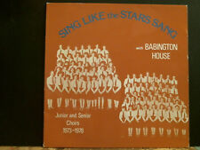 BABINGTON HOUSE  Sing Like The Stars Sang LP   Xiam Choral  Private Fem vox  EX