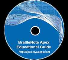 BrailleNote Apex Educational Guide Digital Edition on CD A Curriculum for TVI's