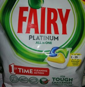 Fairy Platinum All-in-One Soft Pouch Dishwasher Lemon, 2 - 20 Capsules plus....