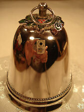 Wallace Silversmiths Green Holly Silver Bell