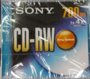 Sony CD-RW Rewritable - 4x- 700MB SEALED Pack Of Four Brand New.