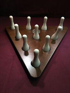 New Champion Shuffleboard Miniature Bowling Pin Setter and 10 piece Pin Set