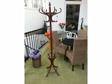 New hat and coat wood hanger rack stand antique style suspender peg