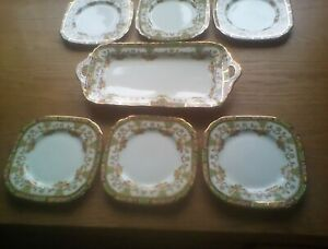 Sutherland China, 1930s Sandwich Set  6 Small & 1 Larger Plate.no Chips, Cracks,