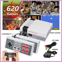 620 Games Built-in Mini Retro Console classic Home TV Game 2 Controller Gift