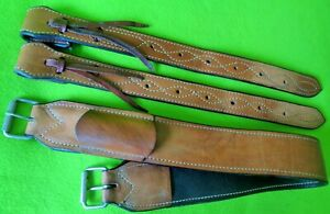 MARTIN Saddlery HIGH Quality COMPLETE Saddle Rear Back Flank Cinch SET~EUC~NR