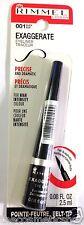 Rimmel London EXAGGERATE Liquid Eyeliner Precise Design # 001 Black Felt Tip NEW