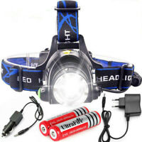 50000LM T6 Led Headlamp Zoomable Headlight Head Torch flashlight 18650 Camping
