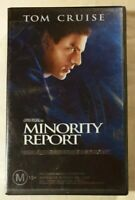 Minority Report VHS 2002 Sci-Fi/Action Steven Spielberg (2003 Reflective Cover)