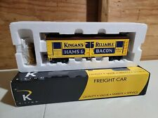 O Gauge 3-Rail K-Line K742-8025 King's Reliable Hams & Bacon Wood Reefer #238