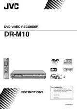 JVC DVD RECORDER PLAYER DR-M10 ORIGINAL INSTRUCTION MANUAL