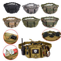Sport Utility Tactical Men Waist Bag Pack Pouch Military Hiking Camping Belt Bag