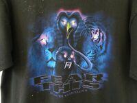 Vtg 90s Busch Gardens FEAR THIS Roller Coaster Distressed Grunge Skate TShirt XL
