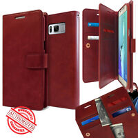 For Samsung Galaxy S9 A6 Plus Note 9 Case Leather Wallet Diary Holder Dual Flip