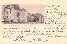 SELTEN Foto AK Metz 1899 !!!@St. Ludwigsstrasse Rue St. Louis@nach Niederbieber