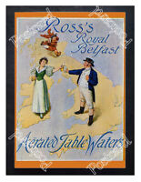 Historic Ross's Royal Belfast Aerated Table Waters.c.1900 Advertising Postcard