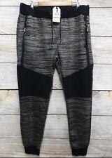 Trestles Supply Co Mens Medium Black Streaky Moto Stretch Sweat Jogger Pants New