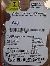 250GB Western Digital WD2500BEVS-00UST0 | FACVJABB | 28 APR 2008 #640